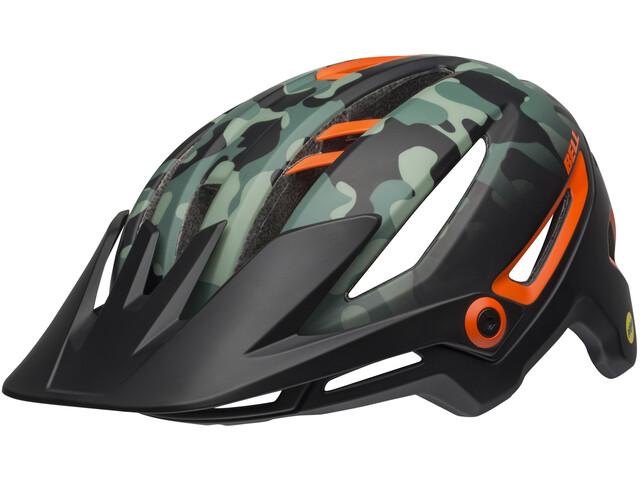 Bell Sixer MIPS Helmet oak matte black/dark green/orange